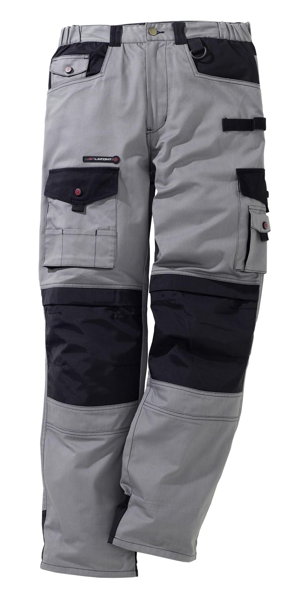 pantalon work attitude gris noir 785. Black Bedroom Furniture Sets. Home Design Ideas