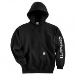 SWEAT SHIRT CARHARTT LOGO HOODED H.GREY